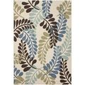 Safavieh Veranda Piled Indoor/ Outdoor Cream/ Aqua Rug (5'3 x 7'7) | Overstock.com $98.59