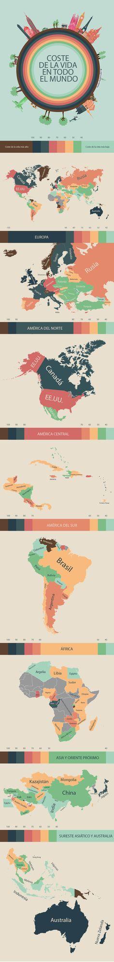 .INFOGRAFÍA: Los países más caros y más baratos del mundo