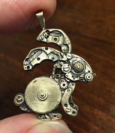 Bronze Bunny Pendant
