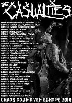 HARD N' HEAVY NEWS: THE CASUALTIES - ANNOUNCES NEW EUROPEAN TOUR