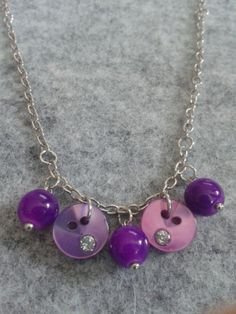 Items similar to Pretty purple necklace for little girls on Etsy Washer Necklace, Pendant Necklace, Purple Necklace, Jewelry Party, Little Girls, Jewelry Design, Pretty, Fashion, Moda
