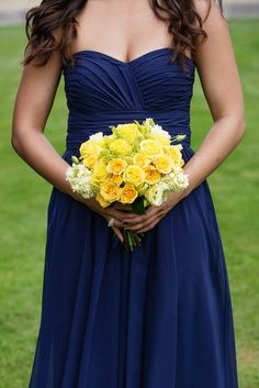 bridesmaid dress flowers