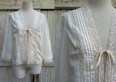 Bohemian Blouse / 1970s white cotton lace blouse / peasant white blouse