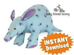 Aardvark Stuffed Animal Sewing Pattern