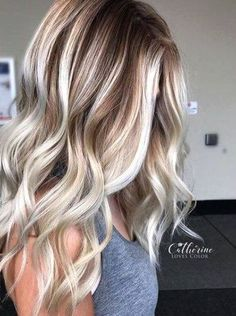 New Hair Long Blonde Highlights Low Lights 60 Ideas Platinum Blonde Balayage, Blond Ombre, Dark Blonde Hair, Blonde Color, Balayage Hair, Bayalage Brunette, Winter Blonde Hair, Fall Balayage, Ashy Hair