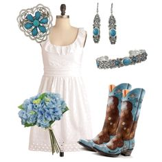 """""""Baby Blue for Sunday"""" by rinergirl on Polyvore"""