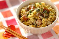 ソーセージの旨味とカレー味がよく合います。ソーセージのカレー炊き込みご飯[洋食/米料理(リゾット等)]2010.10.04公開のレシピです。