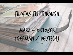 Filofax Flipthrough - März bis Oktober (german/deutsch) - YouTube