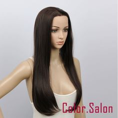 New! Hand-Tied Synthetic Lace Front Wigs Glueless Heat Safe Dark Brown 16#4A in Clothes, Shoes & Accessories, Women's Accessories, Wigs, Extensions & Supplies | eBay