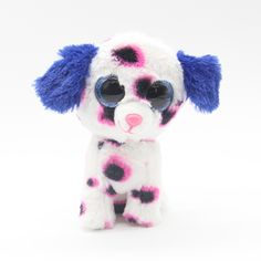 "Ty Beanie Boos Big Eyes 6"" Plush Cute Spotty Dog Animal Toys"