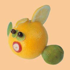 Lemon Lime Fish Sculpture tutorial