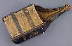 In the late Middle Ages a type of portable book evolved that we call a girdle… Medieval Books, Medieval Manuscript, Medieval Art, Illuminated Manuscript, Medieval Times, Old Books, Antique Books, Vintage Books, Ex Libris