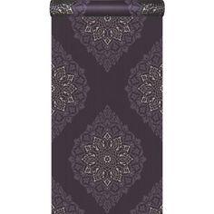Papier peint vinyle expans sur intiss tatoo violet larg m leroy m - Papier peint vintage leroy merlin ...