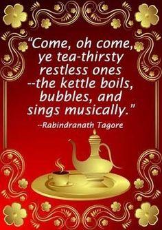...the kettle boils...