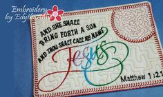 Matthew 1:21 HIS Name Shall Be Called Jesus by EmbroideryEdytheAnn