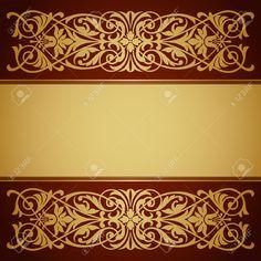 17749550-vector-vintage-gold-border-frame-filigree-with-retro-ornament--Stock-Photo.jpg (1300×1300)
