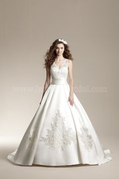 We have this dress in Ivory size 16. Jasmine - F151007