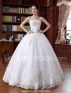 b1a866aca Salón Sin Tirantes Hasta el Suelo Encaje perlado Vestidos de novia hechos a  medida con Cuentas   Apliques por LAN TING BRIDE®