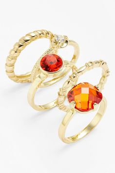 Ariella Collection Stackable Stone Rings (Set of 5) by Ariella Collection on @nordstrom_rack