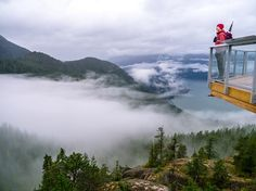 Your top places to stop along the Sea-to-Sky highway // Above the clouds at the Sea to Sky Gondola. Photo: Leigh and Spring McClurg