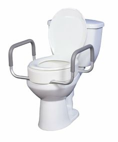 Drive Medical Premium Seat Riser with Removable Arms for Standard Toilets, White $34.33
