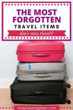 So this isn't your 'average' packing list. So once you have your outfits all folded up KonMari style and THINK you're ready to go, check this packing list. Summer Packing Lists, Carry On Packing, Packing List For Vacation, Vacation Travel, Travel Packing, Pack Your Bags, Go Bags, Travel Items, What To Pack