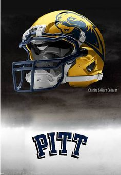University of Pittsburgh Panthers - concept football helmet so much better than just text Cool Football Helmets, Sports Helmet, Nfl Football, University Of Pittsburgh, Pittsburgh Sports, State University, College Football Uniforms, Sports Uniforms, Florida State Football
