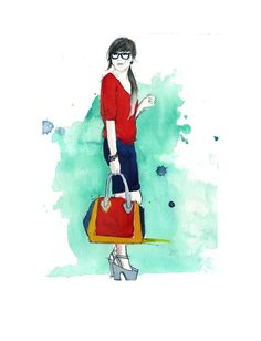 Sincerely Stylish, #watecolor inspired by #sincerely #jules #illustration by Jessica Durrant