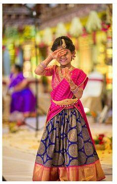Indian Dresses For Kids, Kids Indian Wear, Kids Ethnic Wear, Dresses Kids Girl, Cute Dresses, Girl Outfits, Baby Dresses, Kids Dress Wear, Kids Gown