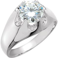 ct Round H Diamond White Gold Solitaire Mens Belcher Ring any size - Ideas of Diamond Rings Mens Diamond Wedding Bands, Wedding Ring Bands, Diamond Rings, Diamond Engagement Rings, Enchanted Jewelry, Thing 1, White Gold Rings, Rings For Men, Jewelry Design