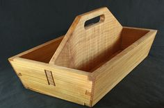 Wood Tool Box Wooden Garden Tote Wood Craft Tote Wooden