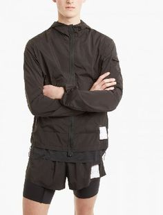 Satisfy Black Packable Windbreaker The Satisfy Packable Windbreaker for SS17, seen here in black. - - - This windbreaker from Satisfy is a lightweight style crafted from a unique 2-way stretch, breathable and water/wind repellent woven http://www.MightGet.com/january-2017-13/satisfy-black-packable-windbreaker.asp