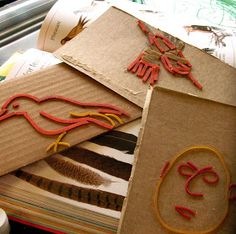 rubber band stamps!