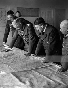 General Busse, Marshall Manstein, Hitler, chief of Staff Zeitzler at Army Group South late Summer 1943.