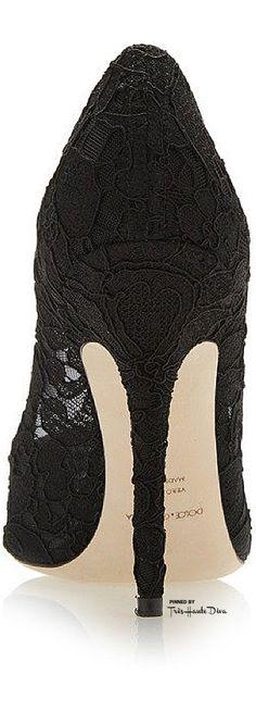 Dolce & Gabbana Black Lace Pump