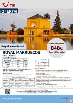 Oferta Royal MARRUECOS. 8 días/7 noches.Salidas Domingos. Octubre.Precio final desde 848€ ultimo minuto - http://zocotours.com/oferta-royal-marruecos-8-dias7-noches-salidas-domingos-octubre-precio-final-desde-848e-ultimo-minuto/