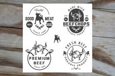 vector set of beef labels by ART69M on Creative Market