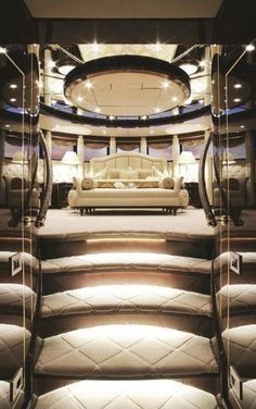 ... luxe bedroom on our private yacht