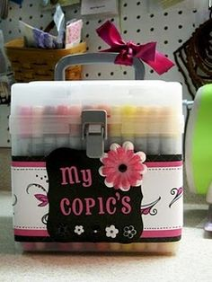 Love Great Organizational Ideas: CTMH's Square Stamp Storage box for MARKERS = Genius!