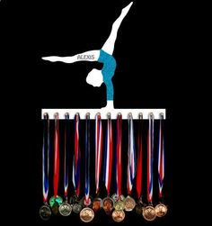 Gymnastics medal hanger | medal holder | award hangers | award displays :: should have had one of these!!!