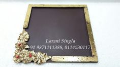 Fibre Tray with Brooch Rs.325/- size 12 x 12 inches