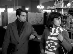 Distracted Film @distractedfilm CAFES-IN-CINEMA: Jean-Pierre Leaud & Chantal Goya. Godard's Masculin Feminin.