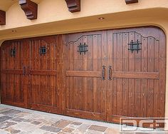 Spanish Interior Design Photos Design, Pictures, Remodel, Decor and Ideas - page 12 Cheap Garage Doors, Garage Door Colors, Custom Garage Doors, Modern Garage Doors, Wood Garage Doors, Garage Door Design, Barn Garage, Shed Design, House Design