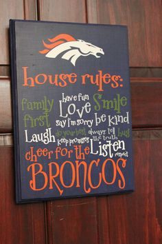 Sports Team House Rules by rachaelwindemuller on Etsy, $32.00