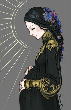 Rhys's mother (minus the wings) [PhantomRin - art & illustration]