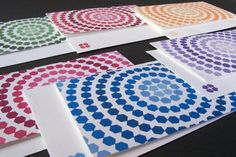 Items similar to Geometric Ombre Card Set - Hexagon Circles on Etsy Mug Designs, Nerd, Mugs, Paper, Unique Jewelry, Circles, Handmade Gifts, Blog, Vintage