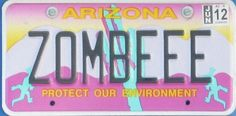 If my book takes off and I get to buy a car, I am so getting a zombie license plate!!