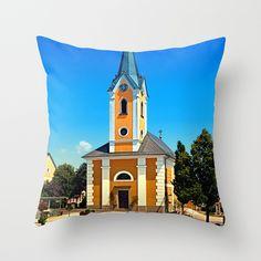 The village church of Alberndorf in der Riedmark Throw Pillow by patrickjobst Throw Pillows, Outdoor Decor, Home Decor, Toss Pillows, Decoration Home, Cushions, Room Decor, Decorative Pillows, Decor Pillows