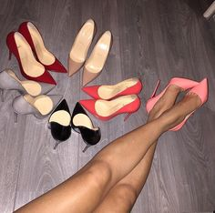 pointed toe heels.