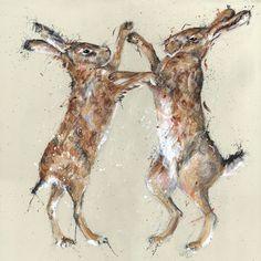 Country Living / Nicole Fenwick - Fenwick Gallery / Boxing Hares Giclée Print